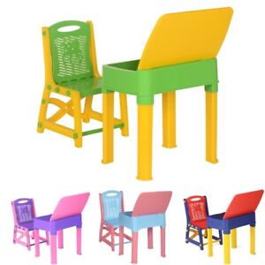 Kids Study Table and chair set children Study desk Toddler chair and table