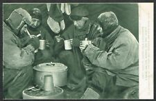 More details for 1910-13 british antarctic expedition postcard 'a meal on the march' very fine