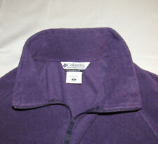 Columbia Women's Plus 1X Fleece Sweater Jacket Full Zip Drawstring Waist Purple