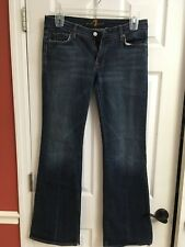 SEVEN FOR ALL MANKIND Women's Flare Jeans Size 25 Medium Wash Stretch DOJO