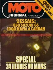 MOTO JOURNAL  409 SUZUKI GS 850 G KAWASAKI Z1000 ST 24 Heures du Mans 1979