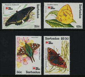 Barbados 807-11 MNH Butterflies, Volcano