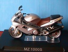 MOTO BIKE MZ 1000S SILVER IXO 1/24 ALTAYA 2 ROUES 2003 MOTORCYCLE ARGENTE