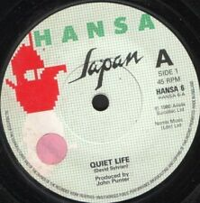 "JAPAN quiet life 7"" WS EX/ uk hansa HANSA 6 sol"
