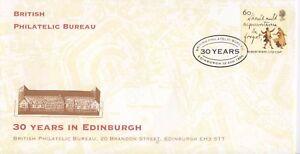 BRITISH PHILATELIC BUREAU 30 YEARS IN EDINBURGH COVER 12.8.1996   POST FREE UK