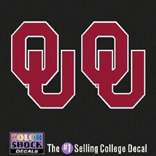 Oklahoma Sooners Decal - Small OU Logo - 2 Decals
