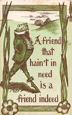 Comic Frog Dressed Animal Grandy Minnesota Postcard 1913
