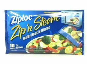 Ziploc Zip'N Steam Medium Cooking Bag - Pack of 10