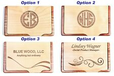 Personalized Bamboo Business Card Case Customized Business Card Box For New Job