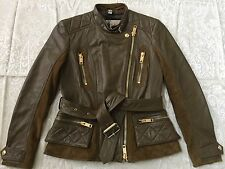 Sale!!! $1995.00 BURBERRY BRIT Broadwell Lamb Leather Suede Quilted Moto Jacket
