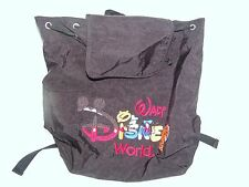Disney Wdw Park Exclusive Backpack Black with Embroidered Disney 14 tall x 13