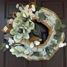 "21"" Wonderful Unique Handmade Green Grey Wreath - Laura GREAT GIFT"