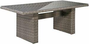 Gartenmöbeltisch Korsika Tisch 200x100cm Polyrattan natur B366364T