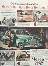 1942 Mercury 8 Sedan - Big 11x14 Vintage Advertisement Print Car Ad LG41