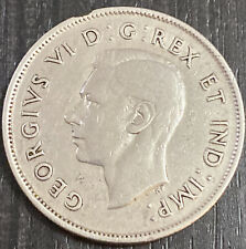 1940 - Canada - 50 cent coin - 0.80 silver Canadian half dollar