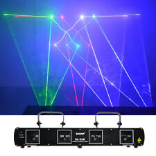 SHINP 4 Lens RGB DMX Laser Master-Slave DPSS Projector Home Party Stage Lighting