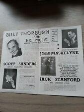 More details for variety theatre flyer 1937,manchester hippodrome ,magician jasper maskelyne secr