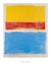 Mark Rothko Untitled Yellow-Red and Blue Poster Kunstdruck Bild 80x60cm