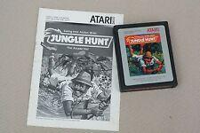 "Atari 2600 Vintage video game "" Jungle Hunt "" 1987 with intruction manual"