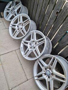 Genuine Mercedes AMG alloy wheels 18 inch - From W204 C350