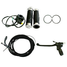 Handlebar Grip Set&Throttle Cable Clutch Cable Fit 66cc 80cc Motorized Bicycle