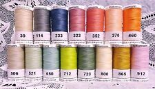 15 NEW different colors GUTERMANN 100% polyester sew-all thread 274 yard Spools