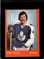 1973-74 TOPPS #71 MIKE PELYK VG MAPLE LEAFS (ST)  *X2201