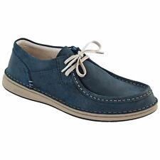 Birkenstock PASADENA Blue Suede Lace Up Men's Shoes