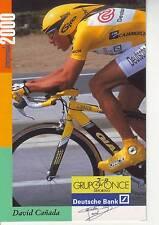 CYCLISME carte cycliste DAVID CANADA  équipe ONCE 2000
