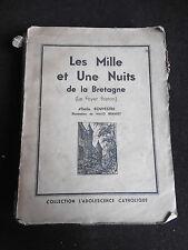 """Émile Souvestre """"Les mille et une nuit de la Bretagne"""" 1929 illust.Malo Renault"""