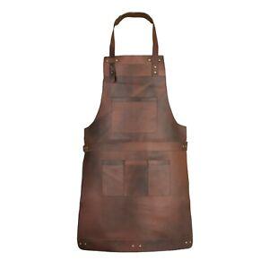Full Grain Leather Apron Butcher Apron Cook Apron BBQ Apron Blacksmith Apron