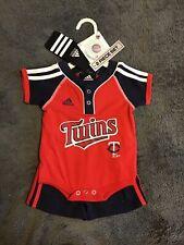 Minnesota Twins Baseball Baby Adidas Outfit, Bodysuit + Shorts, 0-3 Months NEW!