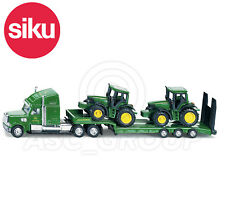 SIKU NO.1837 1:87 Scale JD LOW LOADER & 2 JOHN DEERE TRACTORS Dicast Model / Toy