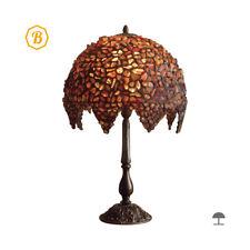 BERNSTEIN / Tiffany-Stil / Tischlampe / 33 cm / Handgefertigtlampe buntglas