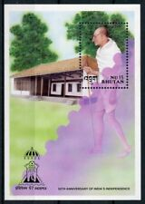 Bhutan 1997 MNH India Independence Mahatma Gandhi 1v S/S Famous People Stamps