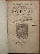 POETA GRAECI VETRES TRAGICI. Genève, 1614. Très beau volume estampé in folio.