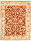 """Vintage Hand-knotted Carpet 9'0"""" x 12'0"""" Traditional Dark Red Wool Area Rug"""