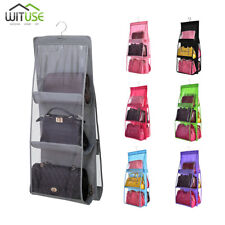 Large Capacity Hanging Purse Organizer Rack Storage Bag For Closet 6 Pockets