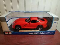 Maisto 2013 Dodge Viper SRT GTS Red 1:18 Scale Diecast Special Edition Model Car