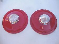 1957 57 FORD CAR & WAGON TAILLIGHT LENSES w BACK UP LIGHT  NEW