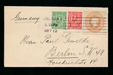 Gb Qv Stationery Cut Out in Combination with Downey Heads 1912