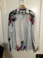 Paul Smith Mens Colour White Red Blue Shirt Large