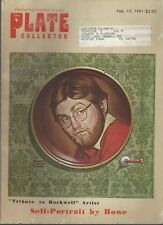Vintage PLATE COLLECTOR Magazine (Feb 15, 1981) TRIBUTE TO ROCKWELL  ~ F571