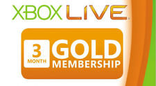 3 Month Xbox Live Gold Membership Subscription Code Digital Microsoft