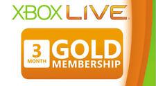 3 Month Xbox Live Gold Membership Subscription Code Digital Microsoft