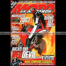 MOTO & MOTARDS N°55 DUCATI 999 BENELLI 900 TORNADO YAMAHA YZF R1 BURNS DAY 2002