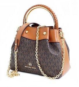 Michael Kors Bag Handbag Rosie Sm Ring Bucket Shoulder Braun New