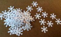 100 Plain White Snowflake Embellishments Toppers Card Making Scrapbook Christmas