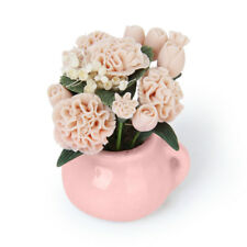 1/2 Scale Dolls House Miniature Clay Carnation Flower Plant in Ceramic Pot