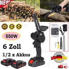 6 Zoll Mini Akku Kettensäge Motorkettensäge Motorsäge Einhandsäge 550W 24V